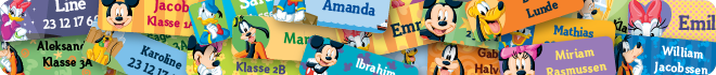 Disney merkelapper