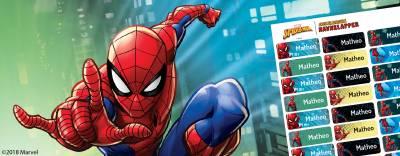 Spider-Man navnelapper