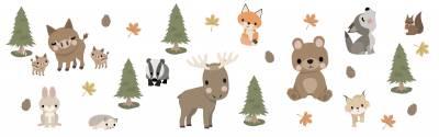 Veggdekor: Skogsdyr