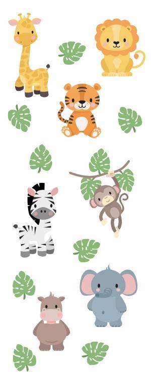Veggdekor: Eksotiske dyr