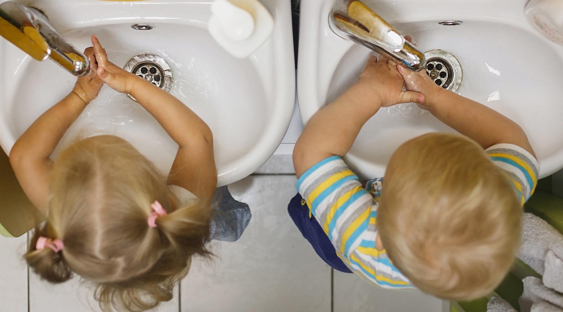 Gode håndvaskrutiner er like viktig i barnehagen som alle andre steder