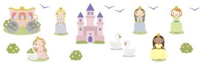 Veggdekor: Prinsesser