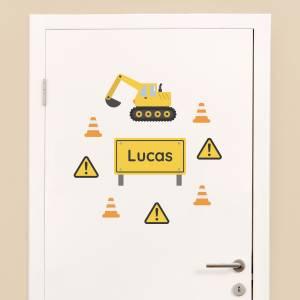 Dørdekor: Anleggsmaskiner