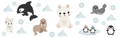 Veggdekor: Arktiske dyr