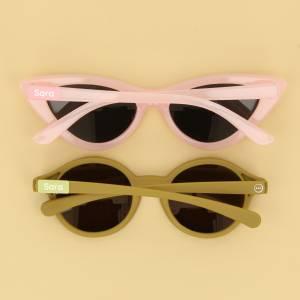 Små navnelapper til solbriller