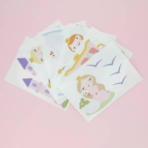 Veggdekor prinsesser