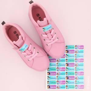 Jasmin navnelapper til sko