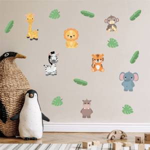 Wallstickers eksotiske dyr - magiske barnerom