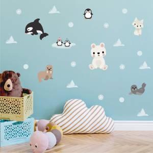 Pynt veggen med arktiske dyr