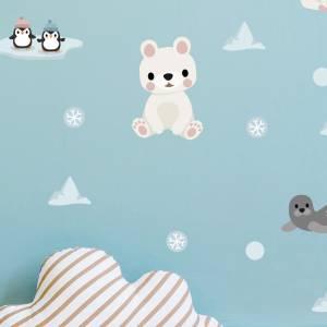 Wallstickers med isbjørn
