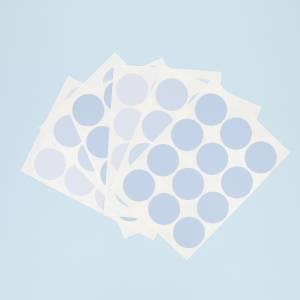 Veggdekor med blå dots