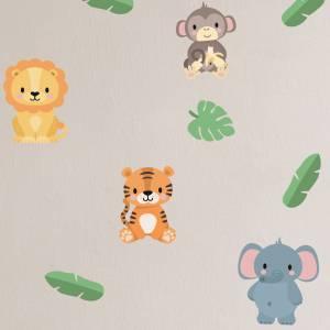 Wallstickers med jungeldyr