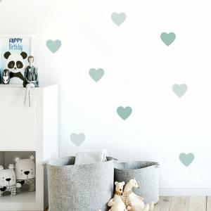 Veggdekor hjerter grønntoner