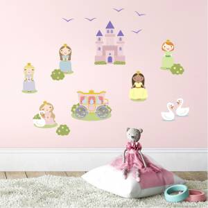 Pynt veggen med prinsesser