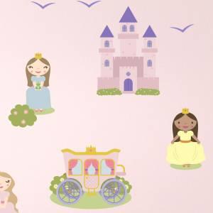 Wallstickers med prinsesser og slott