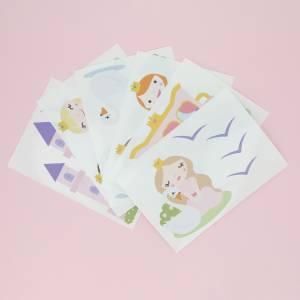 Veggdekor med prinsesser og svaner