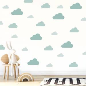 Veggdekor skyer grønntoner