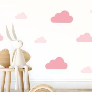 Wallstickers skyer rosatoner